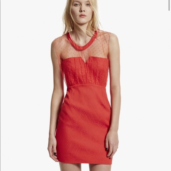 ee65f4c31e6 The Kooples organic red dress size 38